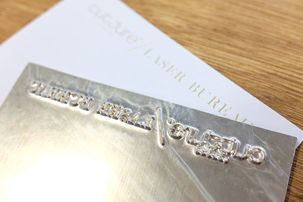Hot foil stamping now available Cutture